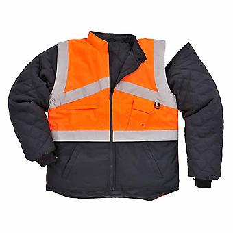 sUw - Hi-Vis Outdoor 2-Tone Reversible Jacket With Detachable Sleeves