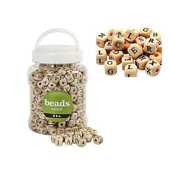400 Wooden Alphabet Beads For Crafts | Wooden Craft Beads