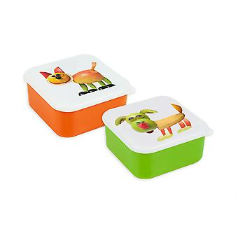 Children's Lunch Box Set of 2 School Picnic Food Container Sandwich Box Fruit