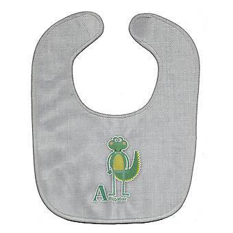 Carolines schatten BB5726BIB alfabet A voor Alligator Baby slabbetje