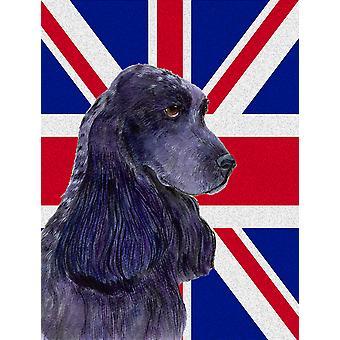 Cocker Spaniel con dimensioni di casa della tela di bandiera inglese Union Jack bandiera britannica