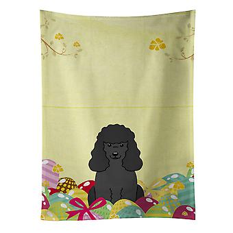 Carolines Treasures  BB6071KTWL Easter Eggs Poodle Black Kitchen Towel