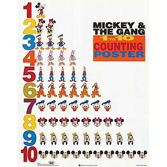 Mickey & Friends 1 to 10 Counting Poster Poster Print by Walt Disney (16 x 20)