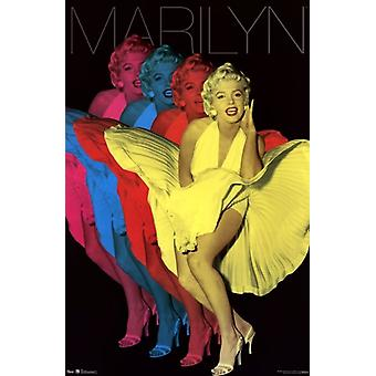 Marilyn - Colorful Poster Poster Print