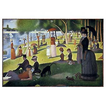 Sunday Afternoon on the Island of La Grand Jatte Poster Print by Georges Seurat (11 x 9)
