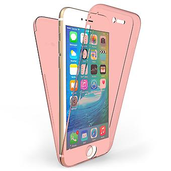 iPhone 6 / 6S Body 360 TPU Gel sag - Rose Gold