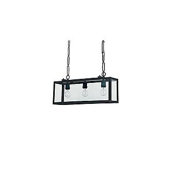 Ideal Lux - Igor White Three Light Pendant With Clear Glass Plates Idl116013
