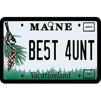 Maine - Best Aunt License Plate Car Air Freshener