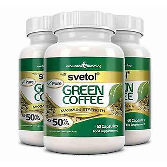 Pure Svetol Green Coffee Bean with 50% CGA - 3 for 2 Offer - Fat Burner and Antioxidant - Evolution Slimming