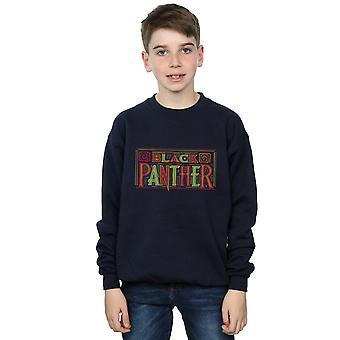 Marvel Boys Black Panther Tribal Logo Sweatshirt