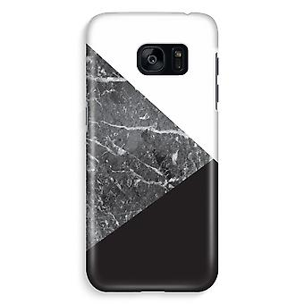 Samsung S7 Edge Full Print Case - Marble combination