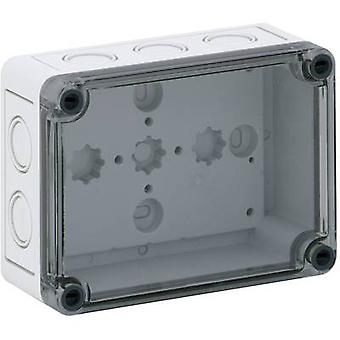 Build-in casing 130 x 94 x 57 Polycarbonate (PC), Polystyrene (EPS) Light gre