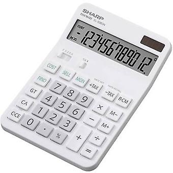 DESKTOP CALCULATOR EL-338 GGY Sharp EL338GN White