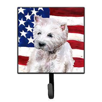 Carolines Treasures  BB9701SH4 Westie Patriotic Leash or Key Holder