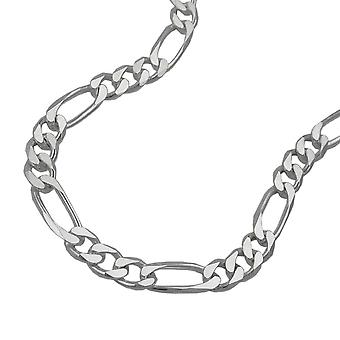 Figaro chain flat silver 925 necklace 55cm