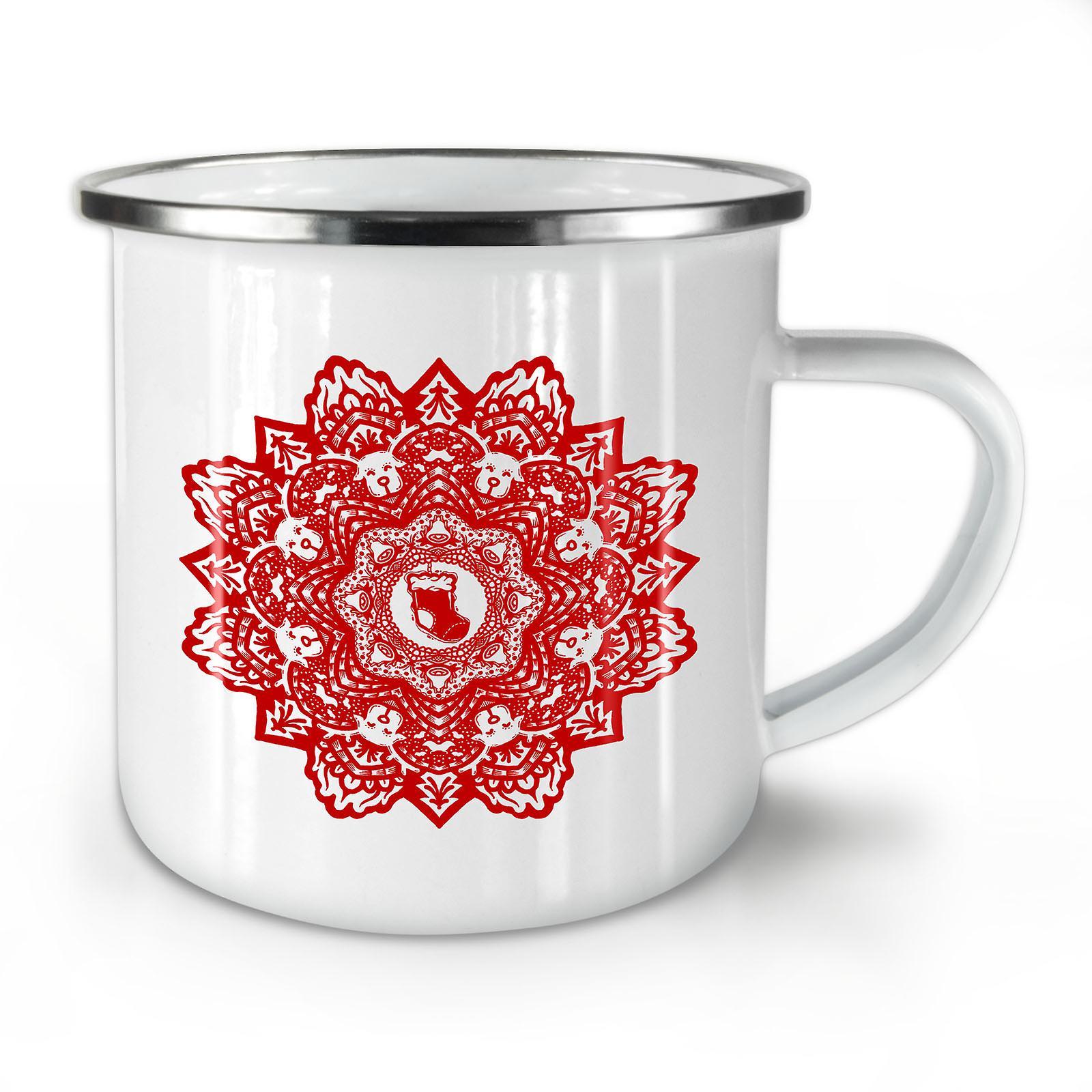 Whitetea Café Mug10 OzWellcoda Fleur Nouvelle Émail Mandala j5ALR34