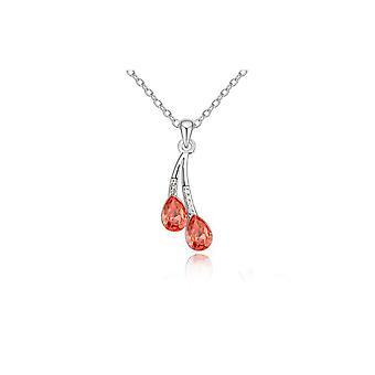 Mooie Waterdrop hanger ketting sieraden Zilveren oranje BG1499