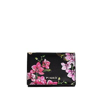 Pinko women's 1P2146Y4JJZ99 black leather wallets