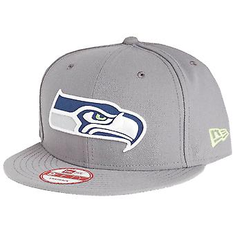 New Era 9Fifty Snapback Cap - Seattle Seahawks storm grau