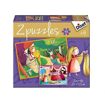 Diset Puzzle Story 2 x 48 Rapunzel (Babies and Children , Toys , Boardgames)