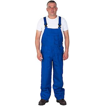 Nine Pocket Bib and Brace - Royal Blue Mens Work Bib Overalls Industrial