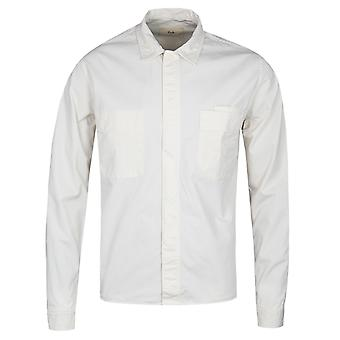 Folk Angle Pocket Ecru Shirt Jacket