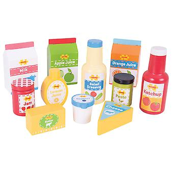 Bigjigs Toys Wooden Chilled Groceries Pretend Play Food Roleplay Child Children