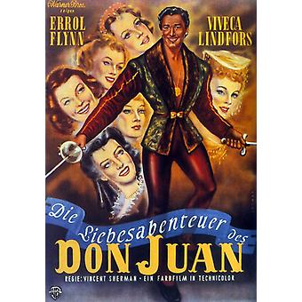 The Adventures of Don Juan Movie Poster (11 x 17)