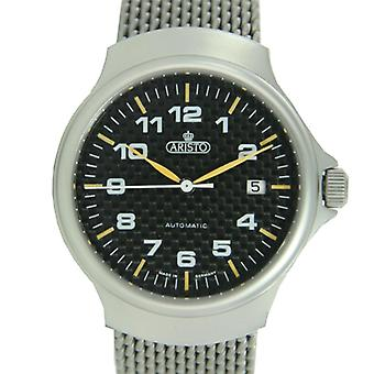Aristo Men's Stainless Steel Carbon clock automatic 3H63