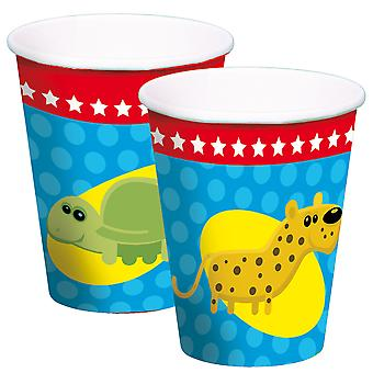 Beaker mug Cup animals animal party birthday 250 ml 8pcs