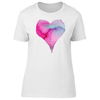 Waterpainted Pink Heart Tee Women's -Image by Shutterstock