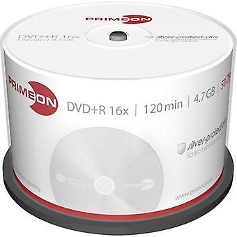 Blank DVD+R 4.7 GB Primeon 2761224 50 pc(s) Spindle Silver matte surface