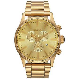 Nixon The Sentry Chrono Watch - Gold