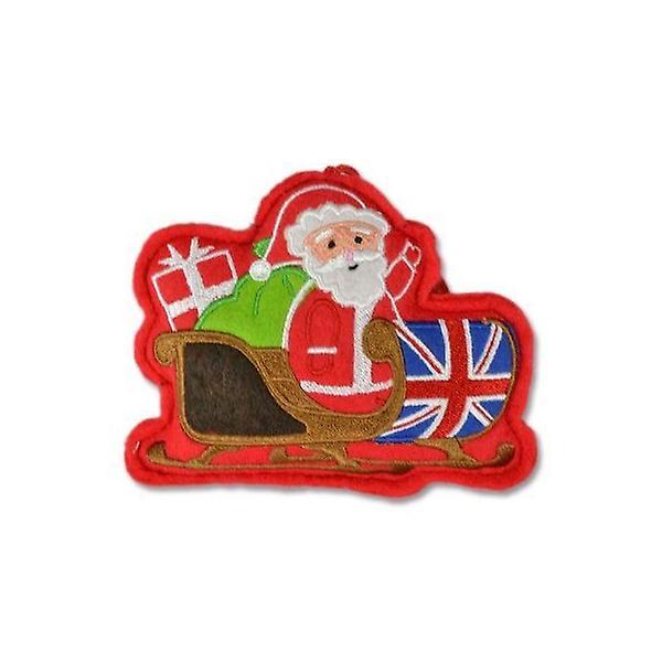 Union Jack Wear Union Jack Santa Sleigh Christmas Tree Decoration