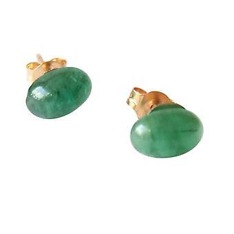 Gemshine - Panie - kolczyki - pozłacane - emerald - zielony - srebrna