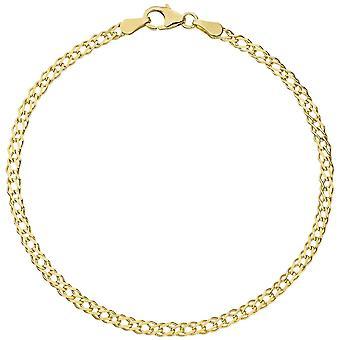Twin tank strap 333 gold yellow gold 21 cm bracelet gold lobster