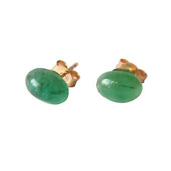 Emerald dubbar örhängen Guld pläterad Emerald ANTONIA