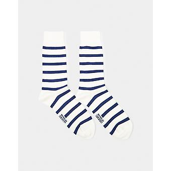 Armor Lux Chaussettes Homme Socks White & Navy - White