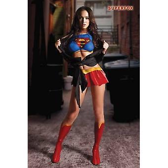 Megan Fox Superfox affiche Poster Print