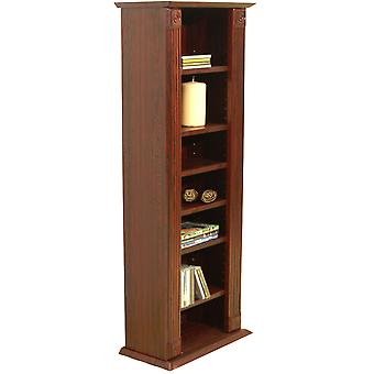 Regency - Bookcase / Storage Shelves - 217 Cd / 85 Dvd / Blu-ray - Mahogany
