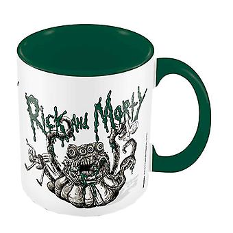 Rick and Morty Mug Monster Troubles Loog new Official Boxed