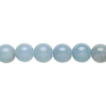 Paket 10 x blau Angelite 6mm Plain Runde Perlen GS14237-1