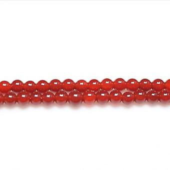Packet 15 x Red Carnelian 3mm Plain Round Beads VP2950