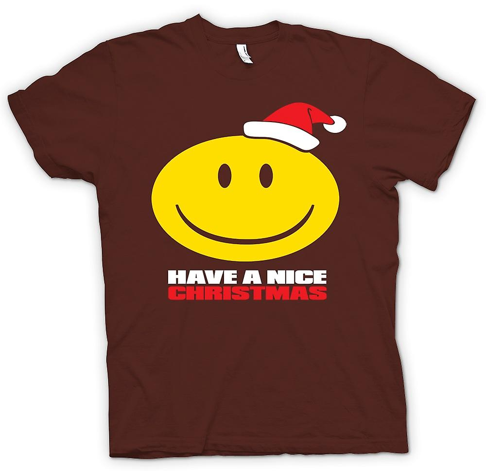 Hommes T-shirt - Smiley, un Noël de Nice