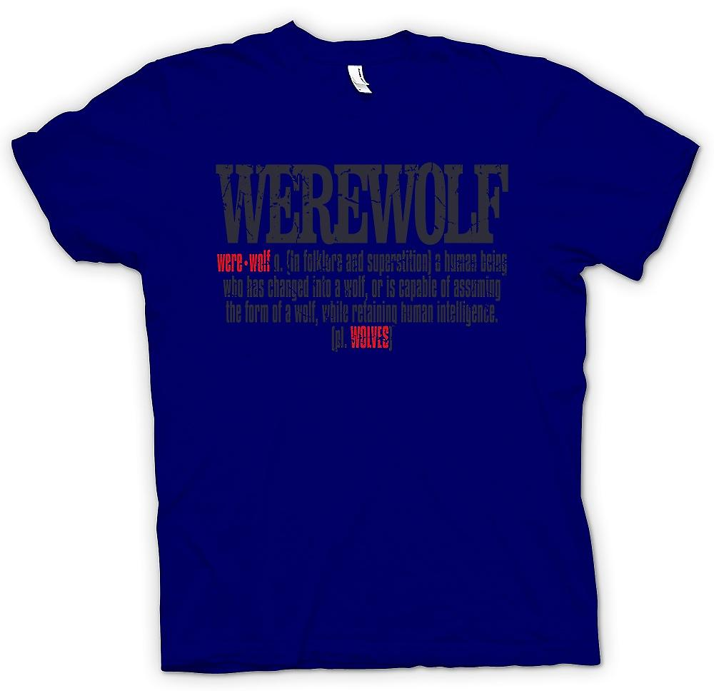 Mens T-shirt - Werewolf Defintion - Cool Design