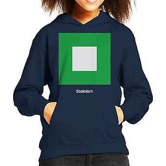 Stoicism Philosophy Symbol Kid's Hooded Sweatshirt