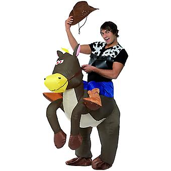 Mens Inflatable Ride Em Cowboy Fancy Dress Costume