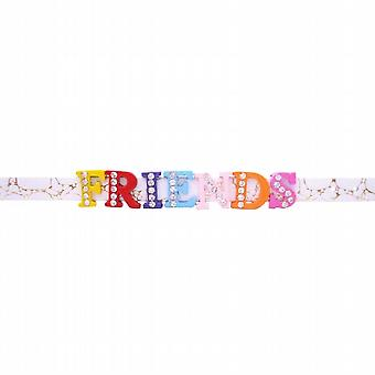 Friendship Day w/ Friend Letter On Watch Strap Bracelet Gift To Friend