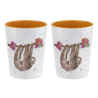 Wrendale Designs Sloth Set of 2 Melamine Beakers