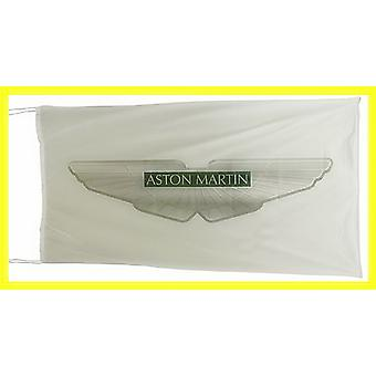 Large Aston Martin flag (white bgrd) 1500mm x 900mm  (of)